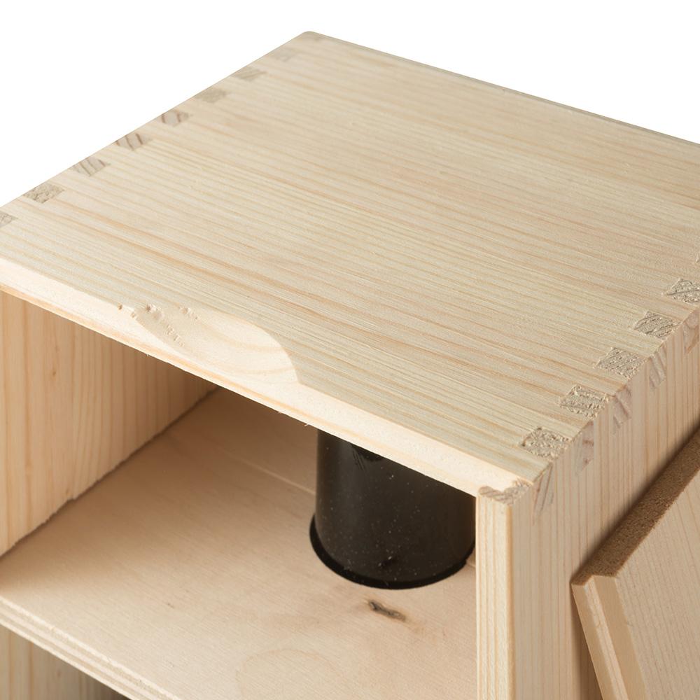 Art. 179 - Cassetta in legno di pino con coperchio ...